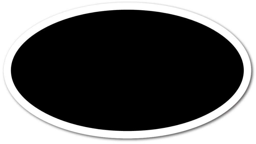 Oval Shape Die-Cut Fridge Magnets