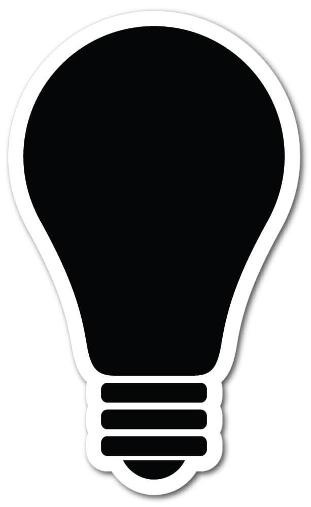 Light Bulb Shape Die Cut Fridge Magnets Mister Magnets